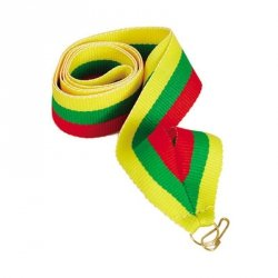 Wstążka 11 Mm - Żółto-Zielono-Czerwona