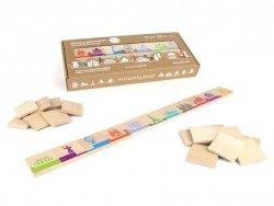 Drewniana gra edukacyjna Domino świat 5l+ MILANIWOOD