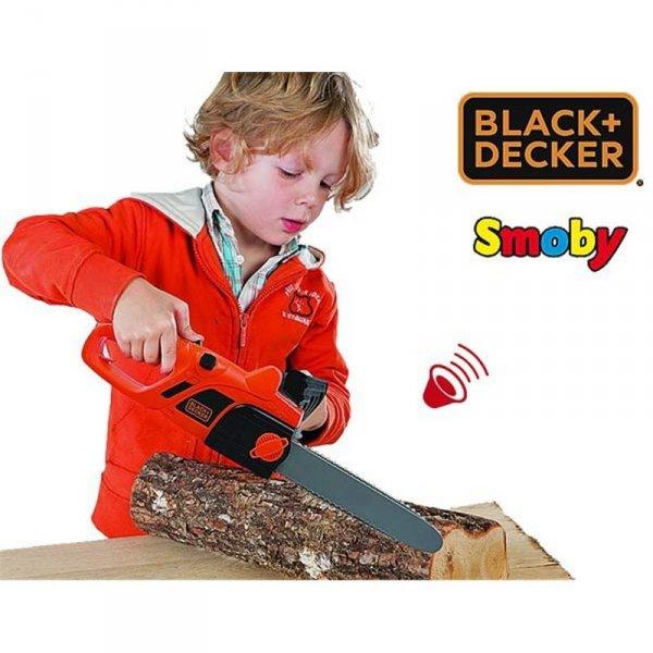 Smoby Elektryczna Piła Łańcuchowa Black+Decker Dźwięk