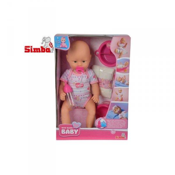 Simba Lalka New Born Baby Bobas z 7 akces. 38 cm