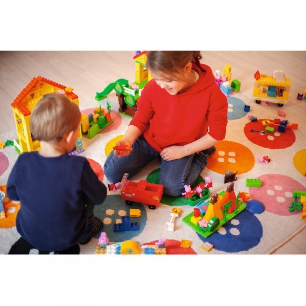 Big Play Klocki Plac Zabaw Świnka Peppa 75 elem. + FIGURKI Peppa i George