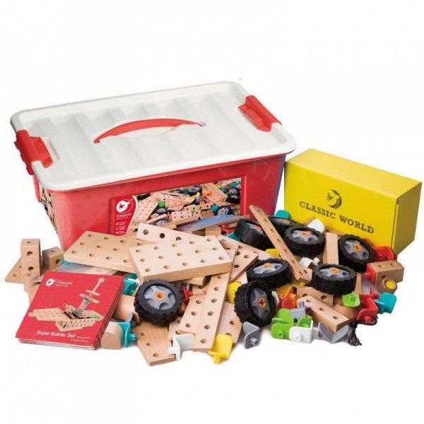 Zestaw Konstrukcyjny klocki dla dzieci 218 sztuk Classic World