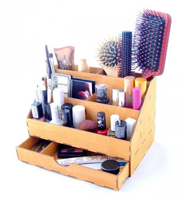 EKO drewniany przybornik na kosmetyki PARANA