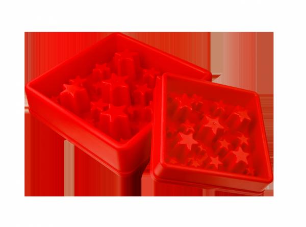 Eat Slow Live Longer STAR miska spowalniająca czerwona S