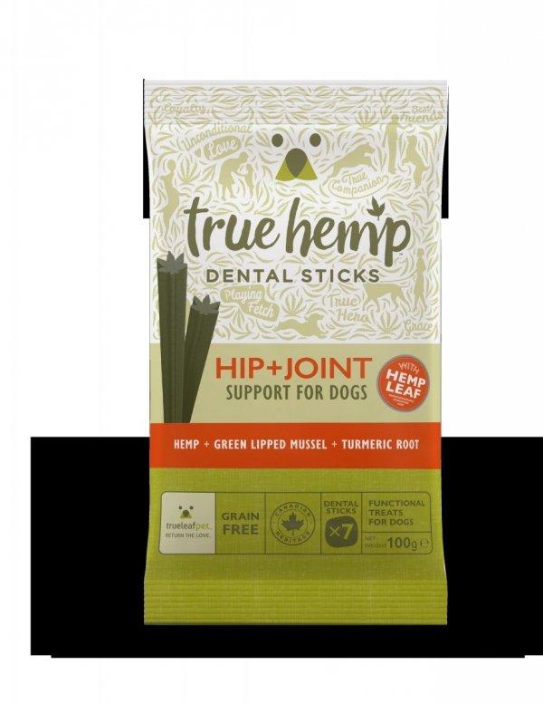 TRUE HEMP Dental stick LARGE z konopiami 125G - biodra + stawy