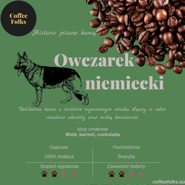Kawa OWCZAREK NIEMIECKI CoffeeFolks 250g