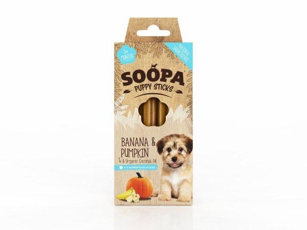 SOOPA Puppy Banan & Dynia Sticks  dla szczeniąt (100g)