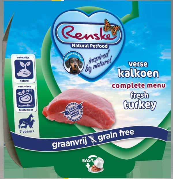 Renske Dog Adult fresh meat turkey – świeże mięso indyk (bez zbóż) 100g