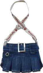 Dolly C109-XS Spódniczka z szelkami jeans 18-20cm
