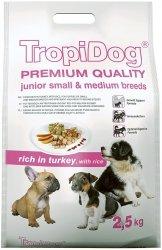 Tropidog 57245 Premium Junior S&M Turkey&Ric 2,5kg