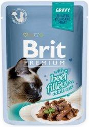 Brit 8555 Premium Cat 85g Wołowina sos saszetka
