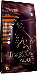 TropiDog 56018 Super Adult M&L Chicken&Salmon 15kg