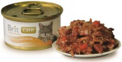 Brit 3049 Care Cat 80g Tuna Carrot Pea puszka