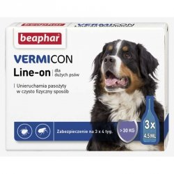 Beaphar 11904 Vermicon Ektopasoży Dog L 3x4,5ml