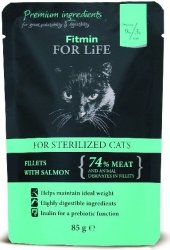 Fitmin Cat 85g For Life saszetka Sterilized Salmon