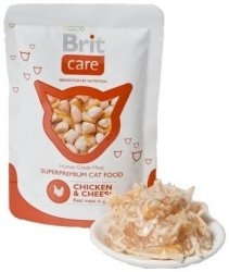 Brit 7016 Care Cat 80g Chicken Cheese saszetka
