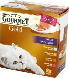 Gourmet Gold 8x85g Mus wołowina multipack