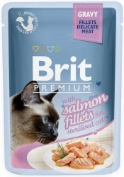 Brit 8562 Premium Cat 85g Sterilised łosoś sos sas