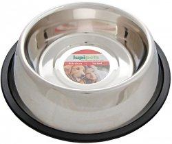 LupiPets Miska 0,70L metalowa dla psa na gumie