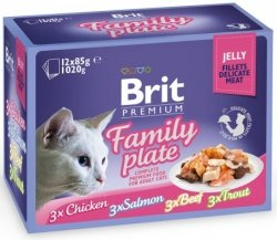 Brit Cat Fillet family Plate 12x85g saszetki galar