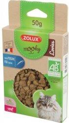 Zolux 582142 MOOKY BIO Cat Lovies z rybą 50g