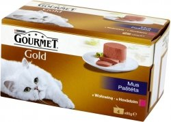 Gourmet Gold 4x85g Mus z Wołowiną