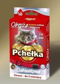 Pchełka 8048 Obroża p/ektopa dzwonek 35cm dla kota