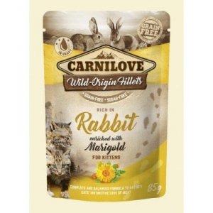 Carnilove Cat 0181 Pouch Kitten Rabbit & Marig 85g