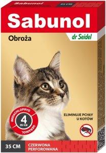Sabunol 1483 Obroża dla kota czerwona 35cm