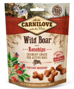 Carnilove Dog Snack 7298 Wild Boar & Rosehips 200g