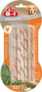 8in1 122470 Przysmak Delights Twisted Sticks 10szt