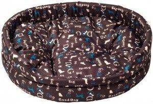 Derma 1382 legowisko z poduszką niebieski pies 3*