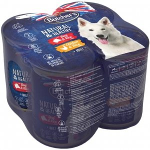 Butchers 5871 Dog Natural&Healthy 4x390g multipack
