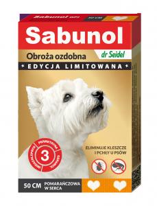 Sabunol 1452 GPI Obroża pomarańc ozdobna 50cm pies