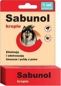 Sabunol 0684 Krople przeciw pchłom i kleszcz 1ml
