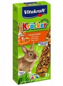 Vitakraft 0186 Kracker 2 szt dla królika miód/orki