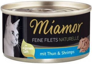 Miamor 75018 Filets Naturelle Tuńczyk Krewetki 80g