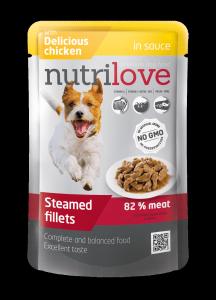 Nutrilove Dog 11452 saszetka 85g kurczak sos