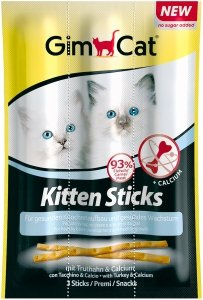 Gimcat 420448 Kitten Sticks indyk wapno 3x3g