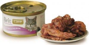 Brit 3025 Care Cat 80g Tuna Salmon puszka