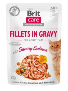 Brit 0525 Care Cat 85g Savory Salmon saszetka