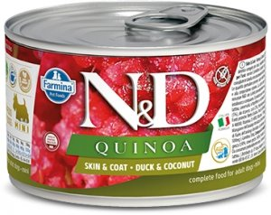 ND Dog 2376 Quinoa Mini 140g Skin&Coat Duck