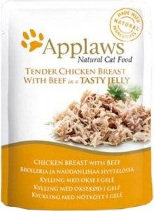 Applaws 8252 Cat Kurczak Wołowiną 70g sasz w gal