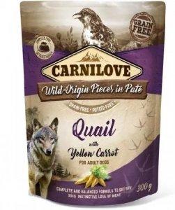 Carnilove Dog 7686 pouch Quail& yellow carrot 300g