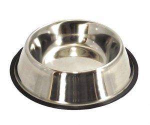LupiPets Miska 0,90L metalowa dla psa na gumie
