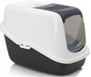 Nestor S-227-00WZ Toaleta dla kota biało/czarna