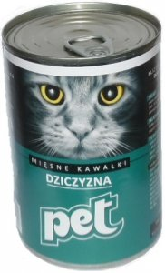 Pet Cat 410g Dziczyzna