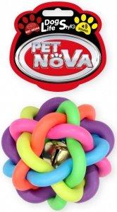 Pet Nova 2004 Piłka pleciona 10,5cm, kolorowa