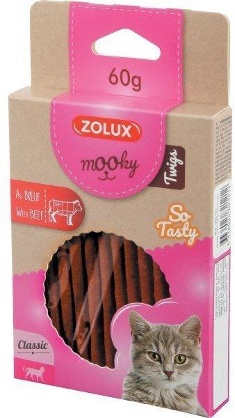 Zolux 582121 MOOKY Twigs Wołowina 60g