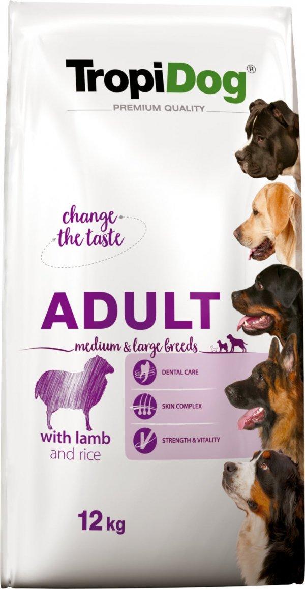 Tropidog 57057 Premium Adult M&L Lamb&Rice 12kg